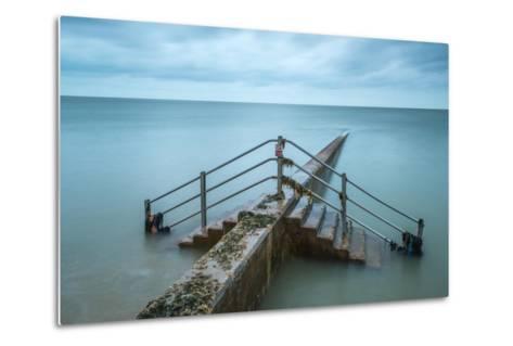 Groyne at Minnis Bay in Kent-Michael Fenton-Metal Print