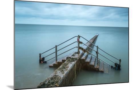 Groyne at Minnis Bay in Kent-Michael Fenton-Mounted Photographic Print