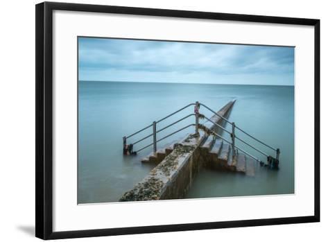 Groyne at Minnis Bay in Kent-Michael Fenton-Framed Art Print
