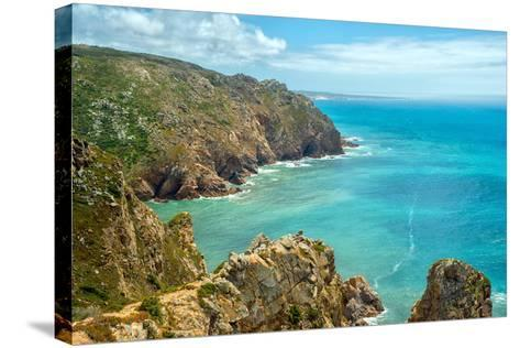 Coast of Portugal, Cape Cabo Da Roca - the Westernmost Point of Europe. Picturesque Rocks-Artem Merzlenko-Stretched Canvas Print