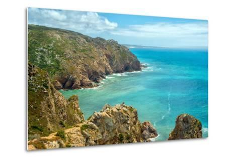 Coast of Portugal, Cape Cabo Da Roca - the Westernmost Point of Europe. Picturesque Rocks-Artem Merzlenko-Metal Print