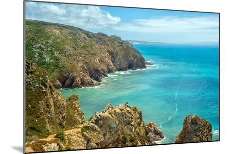 Coast of Portugal, Cape Cabo Da Roca - the Westernmost Point of Europe. Picturesque Rocks-Artem Merzlenko-Mounted Photographic Print