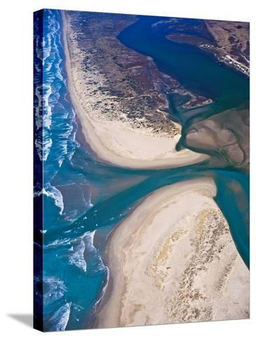 Mouth of Murray River, South Australia-Bill Bachman-Stretched Canvas Print