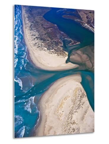 Mouth of Murray River, South Australia-Bill Bachman-Metal Print