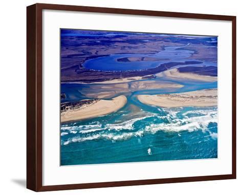Mouth of Murray River, South Australia-Bill Bachman-Framed Art Print