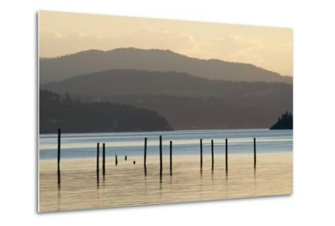 Coeur D'Alene Lake at Dusk-Nick Dale-Metal Print