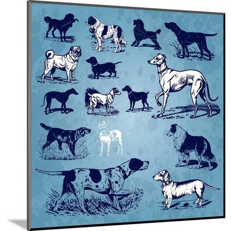 Dogs Vintage- Milalala-Mounted Art Print