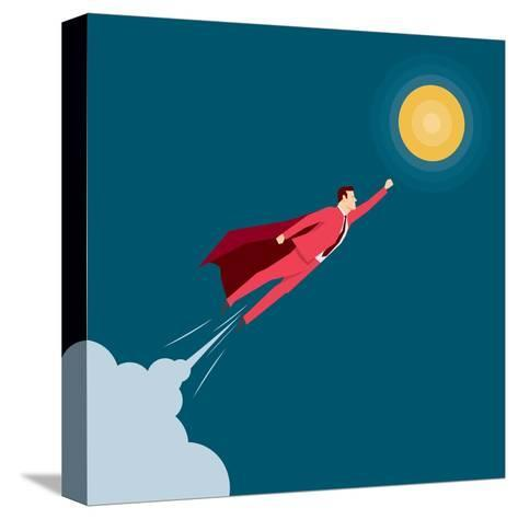 Red Suit Businessman. Super Hero. Concept Illustration-Suat Gursozlu-Stretched Canvas Print