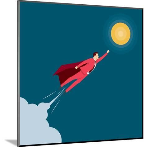 Red Suit Businessman. Super Hero. Concept Illustration-Suat Gursozlu-Mounted Art Print