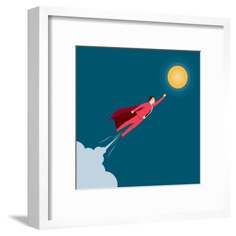 Red Suit Businessman. Super Hero. Concept Illustration-Suat Gursozlu-Framed Art Print