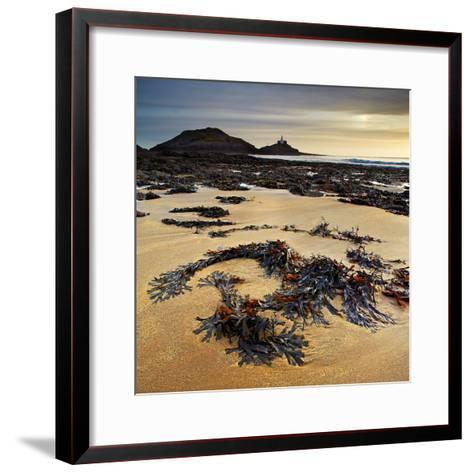 Mumbles Lighthouse and Bracelet Bay, Gower, Wales with a Partial Parhelion/Sun Dog in the Top Right-Dan Santillo-Framed Art Print
