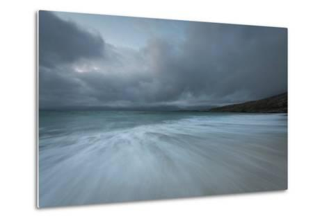 Dramatic Stormy Skies and Flowing Tide-Stewart Smith-Metal Print