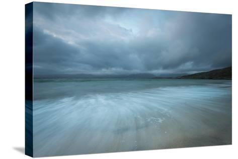 Dramatic Stormy Skies and Flowing Tide-Stewart Smith-Stretched Canvas Print