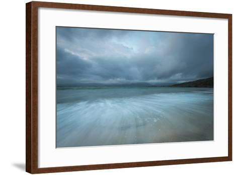 Dramatic Stormy Skies and Flowing Tide-Stewart Smith-Framed Art Print