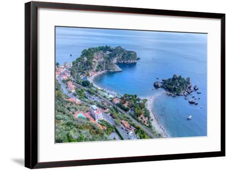 Isola Bella, Taormina, Messina, Sicily, Italy-Joana Kruse-Framed Art Print