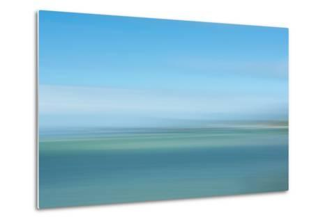 Intentional Camera Movement (Icm) Image of Turquoise Sea-Stewart Smith-Metal Print