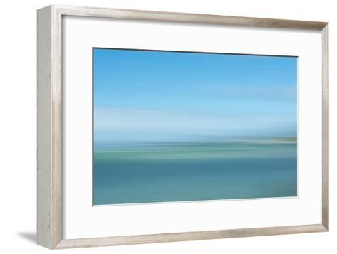Intentional Camera Movement (Icm) Image of Turquoise Sea-Stewart Smith-Framed Art Print