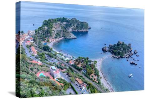 Isola Bella, Taormina, Messina, Sicily, Italy-Joana Kruse-Stretched Canvas Print