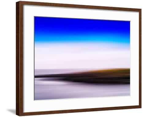 Horizontal Vivid Motion Blur Nordic Fjord Island Landscape Abstr-Nickolay Loginov-Framed Art Print