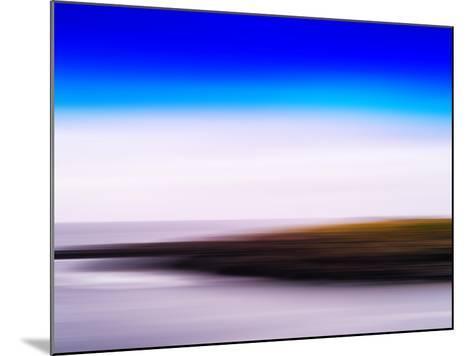 Horizontal Vivid Motion Blur Nordic Fjord Island Landscape Abstr-Nickolay Loginov-Mounted Photographic Print