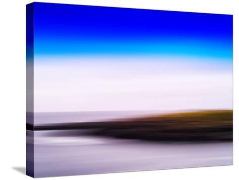 Horizontal Vivid Motion Blur Nordic Fjord Island Landscape Abstr-Nickolay Loginov-Stretched Canvas Print