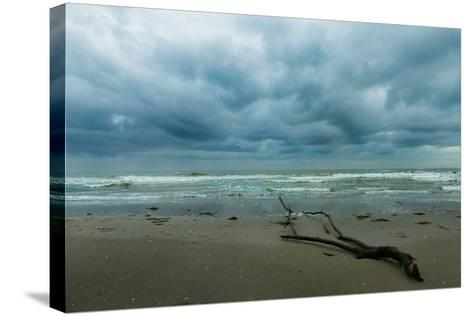 The Sea in a Cloudy Day in Winter- Etabeta-Stretched Canvas Print