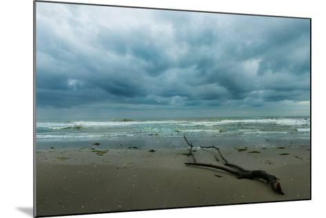 The Sea in a Cloudy Day in Winter- Etabeta-Mounted Photographic Print