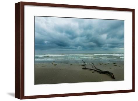 The Sea in a Cloudy Day in Winter- Etabeta-Framed Art Print