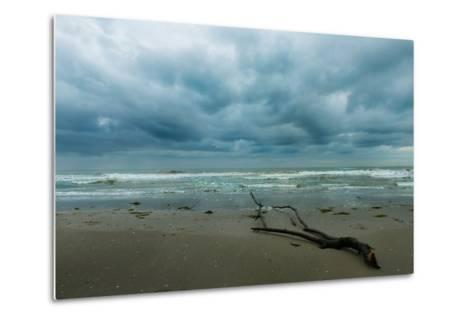 The Sea in a Cloudy Day in Winter- Etabeta-Metal Print