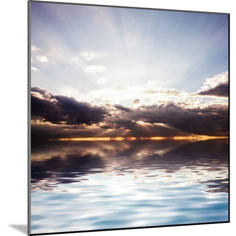 Sunset at the Sea. Beautiful Nature: Water and Sky-Oksana Kovach-Mounted Photographic Print