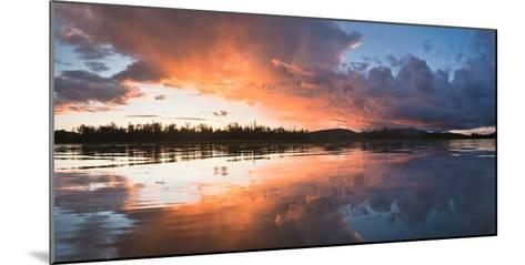 Sunset at Mouth of Androscoggin River and Magalloway River at Lake Umbagog, New Hampshire, USA- Huntstock-Mounted Photographic Print