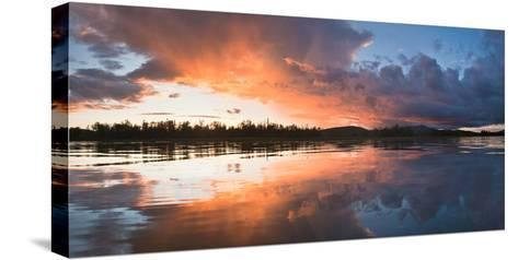 Sunset at Mouth of Androscoggin River and Magalloway River at Lake Umbagog, New Hampshire, USA- Huntstock-Stretched Canvas Print