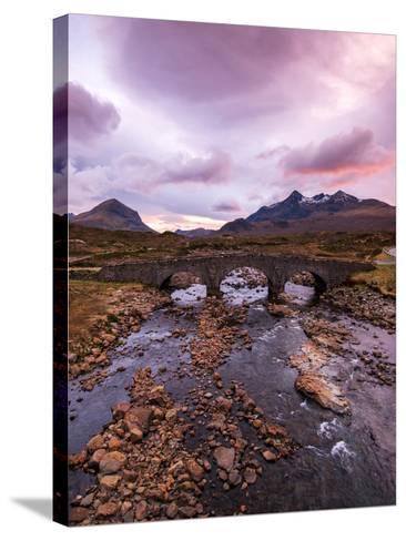 Sunset at Sligachan Bridge, Isle of Skye Scotland UK-Tracey Whitefoot-Stretched Canvas Print