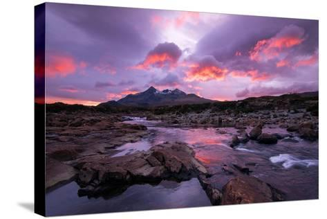 Sunset at Sligachan on the Isle of Skye, Scotland UK-Tracey Whitefoot-Stretched Canvas Print