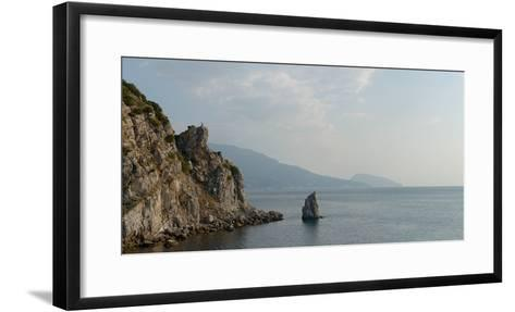 Yalta and Ayu-Dag Mountain, Light of Summer Morning from Stairs under Swallow's Nest Castle-Vladimir Zaplakhov-Framed Art Print
