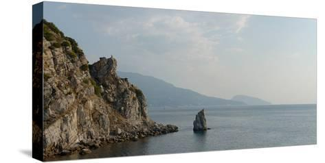 Yalta and Ayu-Dag Mountain, Light of Summer Morning from Stairs under Swallow's Nest Castle-Vladimir Zaplakhov-Stretched Canvas Print