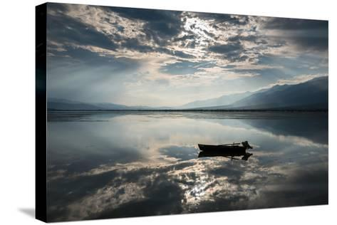 View of Kerkini Lake with Dramatic Sky in Greece-dinosmichail-Stretched Canvas Print