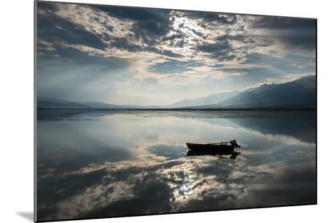 View of Kerkini Lake with Dramatic Sky in Greece-dinosmichail-Mounted Photographic Print