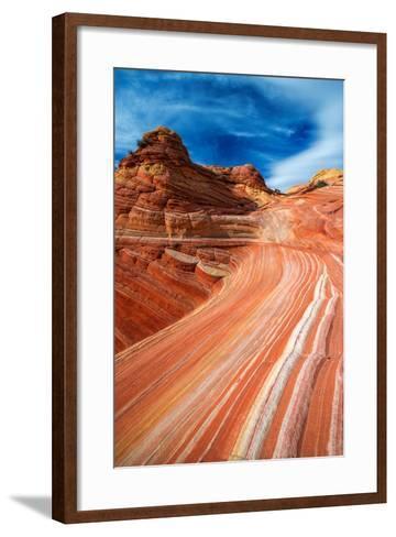 The Wave, Coyote Buttes, Paria-Vermilion Cliffs Wilderness, Arizona Usa-Russ Bishop-Framed Art Print