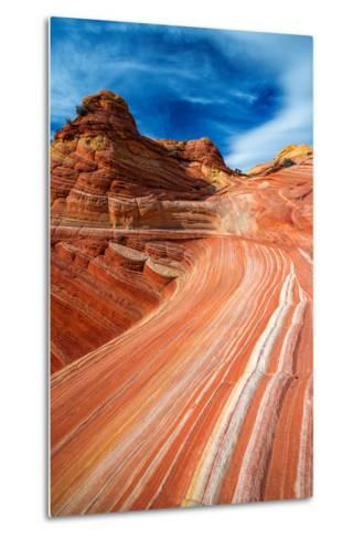 The Wave, Coyote Buttes, Paria-Vermilion Cliffs Wilderness, Arizona Usa-Russ Bishop-Metal Print