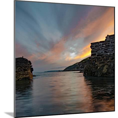 Sunset from Portwrinkle Harbour Se Cornwall-Jonathan Somers-Mounted Photographic Print