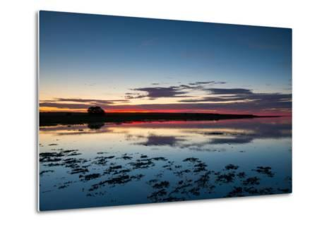 Sunset Blue Hour on the Causeway on Holy Island, Northumberland England UK-Tracey Whitefoot-Metal Print