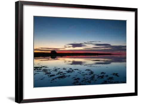 Sunset Blue Hour on the Causeway on Holy Island, Northumberland England UK-Tracey Whitefoot-Framed Art Print