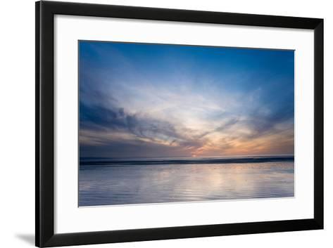 Sunset on Berrow Beach-Don Hooper-Framed Art Print