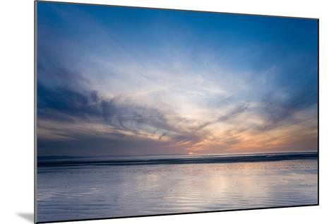 Sunset on Berrow Beach-Don Hooper-Mounted Photographic Print