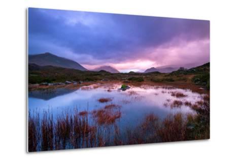 Sunset on a Lochan at Sligachan on the Isle of Skye, Scotland UK-Tracey Whitefoot-Metal Print