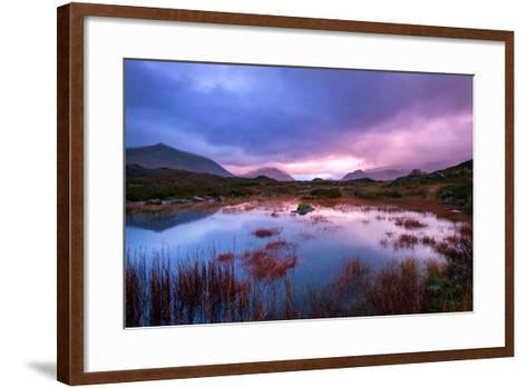 Sunset on a Lochan at Sligachan on the Isle of Skye, Scotland UK-Tracey Whitefoot-Framed Art Print