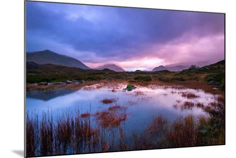Sunset on a Lochan at Sligachan on the Isle of Skye, Scotland UK-Tracey Whitefoot-Mounted Photographic Print