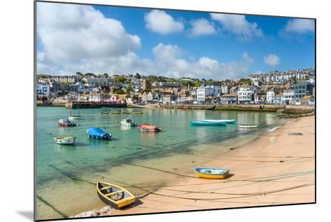View over the Fishing Harbour of St Ives, Seen from Smeatons Pier, Cornwall, England, UK- Travelbild-Mounted Photographic Print