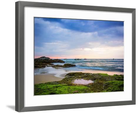 Sunset on Khao Lak Beach in Thailand-Remy Musser-Framed Art Print